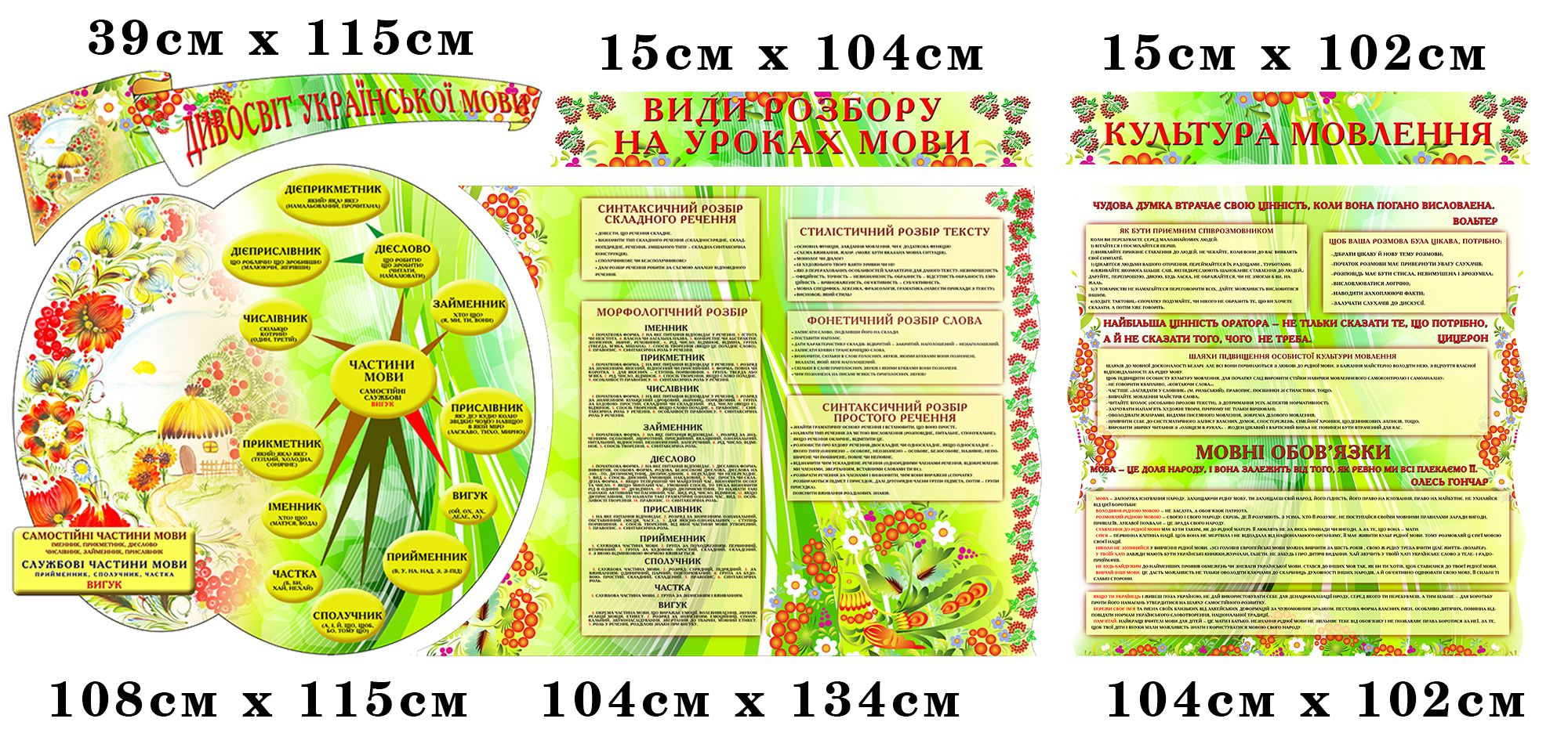 Стенд у кабінет Української мови та літератури